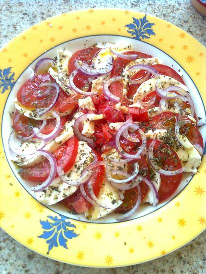Tomatensalade met mozzarella