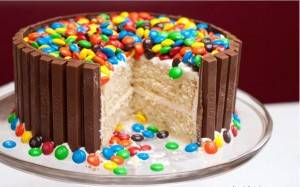 Kitkat m m taart recept for M m cake decoration