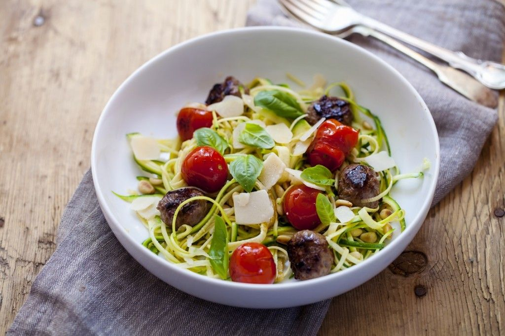 courgetti gehaktbal weekmenu