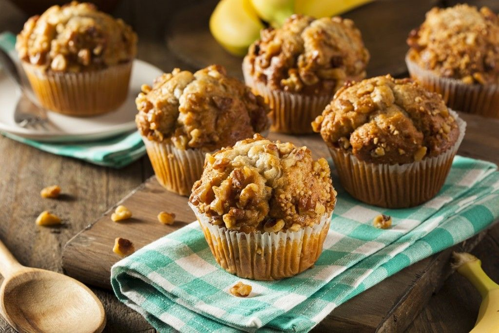Weekend baktip: banaan-walnoot muffins