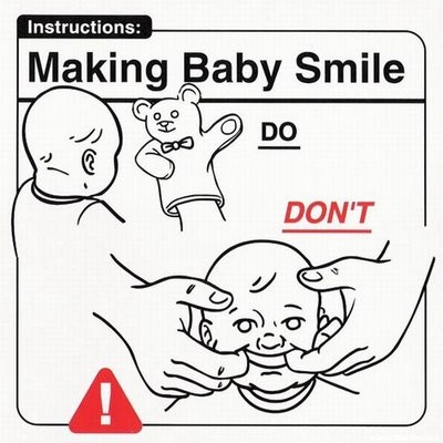 Making a baby smile