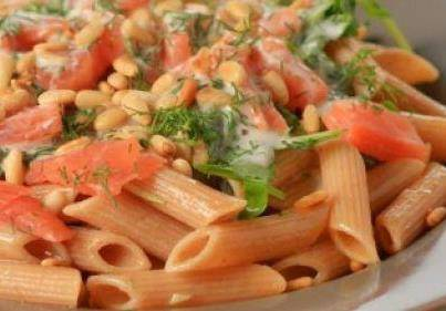 Penne met zalmsnippers