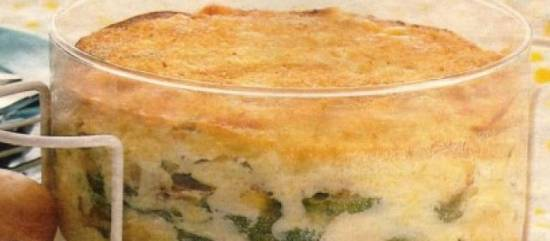 Zomerse courgette ovenschotel