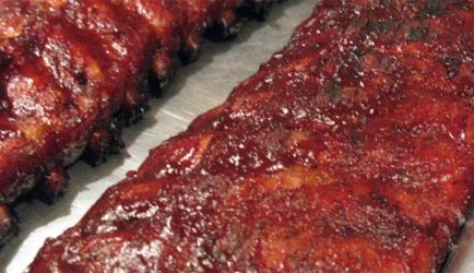 Kleverige spicy Chinese spareribs