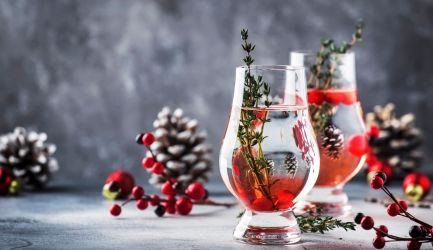 Cranberry cocktail met gin en champagne